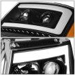 Черные линзованные фары с декоративной LED подсветкой CHEVROLET Tahoe / Avalanche