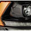 Черные линзованные фары с декоративной LED подсветкой серии LUXX DODGE Ram