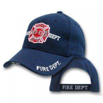 Бейсболка пожарного департамента темно-синия FIRE DEPT.