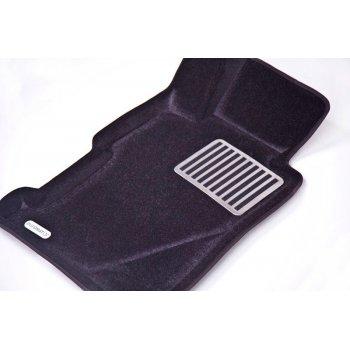 Комплект 3d ковриков черного цвета Euromat Lux