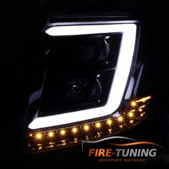 Фары головного света с декоративной LED подсветкой для CHEVROLET Tahoe
