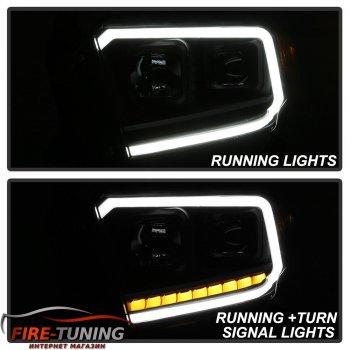 Фары головного света с декоративной LED подсветкой для TOYOTA Tundra