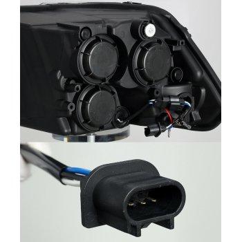 Комплект черной головной оптики на DODGE Ram