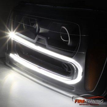 Линзованные фары с декоративной LED подсветкой CHEVROLET Traiblazer