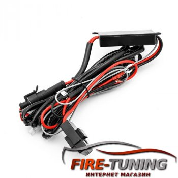Черные фары серии LUXX с декоративной LED подсветкой FORD Mustang