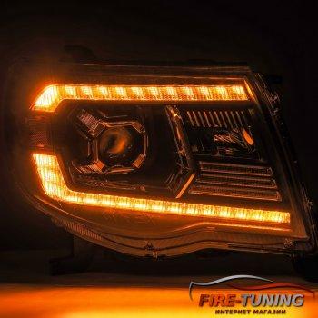 Комплект светодиодных фар с декоративной LED подсветкой TOYOTA Tacoma