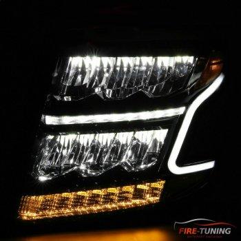 Хромированные светодиодные фары с декоративной подсветкой CHEVROLET Suburban