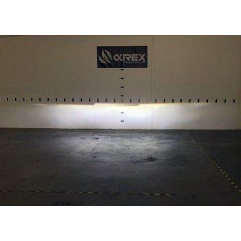 Черные линзованные светодиодные фары AlphaRex серии LUXX на TOYOTA Tundra / Sequoia