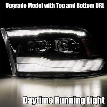 Черные светодиодные линзованные фары серии LUXX для DODGE Ram